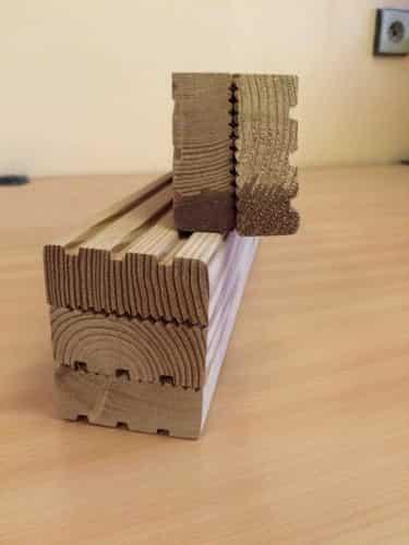 Hranol dřevěný 56mm x 46mm