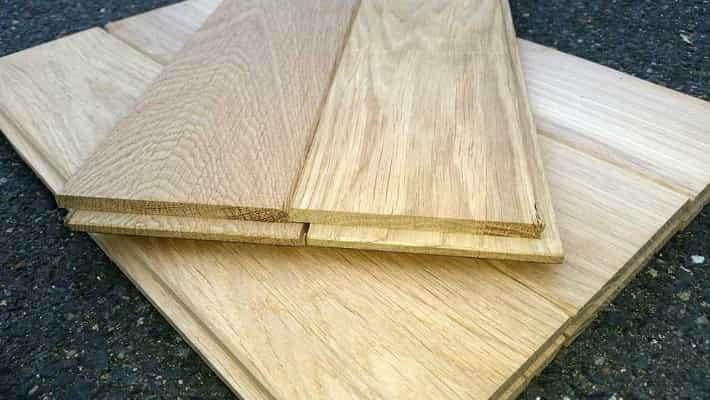 Dřevěná podlaha z dubu 20mm x 136mm x 1m - 1.75m